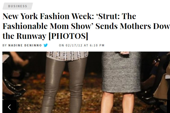 New York Fashion Week: 'Strut: The Fashionable Mom Show' Sends Mothers Down the Runway